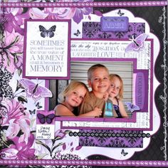 Made using the Violet Crush Collection from Kaisercraft. By Kelly-ann Oosterbeek. Scrapbooking Layouts, Scrapbook Pages, Wedding Scrapbook, November 2015, Big Project, Layout Inspiration, Whisper, Scrapbooks, Lilac