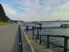 Kiellinie ve městě Kiel, Schleswig-Holstein