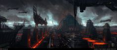 http://gaspode.cgsociety.org/art/industry-photoshop-forge-lava-city-china-2d-864184