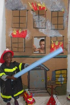 Dramatic play - fire pinned with Pinvolve - pinvolve.co