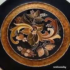 Image result for gutbrantsdall  norwegian hand painted wooden plates