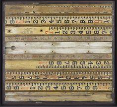 Wooden yardsticks.  ECKMANN STUDIO LOVE