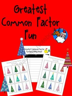 Greatest Common Factor Giveaway - Enter to win a top-rated holiday game: Greatest Common Factor Fun! Two lucky people will receive a copy of the game!.  A GIVEAWAY promotion for Greatest Common Factor Fun Holiday Game from Teaching the Stars on TeachersNotebook.com (ends on 12-6-2013)
