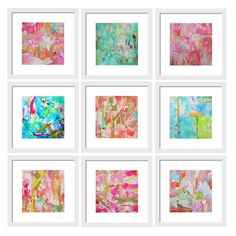 A personal favorite from my Etsy shop https://www.etsy.com/listing/459233634/watercolor-abstract-art-print-set