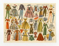 1950 Danish Marinelotte Lene paper doll