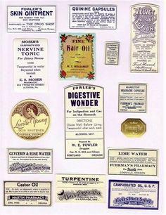 Vintage Pharmacy Adhesive Labels
