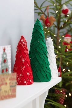 How to Make Felt Christmas Trees #christmas #felt