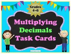 This is a set of 40 task cards for multiplying decimals. Answer key and student response sheet are included. Problems range from basic to advanced, including single step and multi step problems, allowing you to differentiate and accommodate multiple ability levels.
