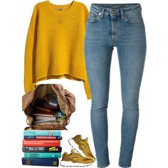 9|20|15 by thatchickcrazy on Polyvore featuring H&M, Yves Saint Laurent, NIKE and Wet Seal