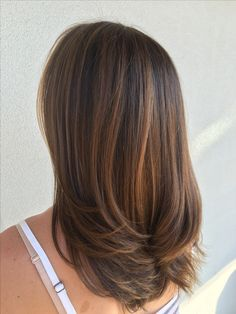 The ombre hair trend has been seducing for some seasons now. More discreet than tie and dye, less classic than sweeping, this new technique of hair. Sunkissed Hair Brunette, Brunette Highlights, Caramel Highlights, Caramel Ombre Hair, Caramel Color, Ombre Hair Color, Hair Colors, Balayage Hair, Dark Balayage
