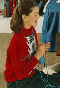 NEW! Pullover Sweater knit patterns from Fashions & Fun for the Almost Teens, Bernat Handicrafter Book No. 59 from 1957.
