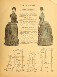 A blog about pattern making, designing, cutting - I post patterns from Victorian garment cutting books that are in the public domain.
