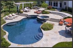 images of backyard swimming pools | Backyard Swimming Pool | interiors-designed.com Perfect World, Buy Fish, Aquaponics, Backyard Landscaping, Landscape, Water, Outdoor Decor, Stuff To Buy, House