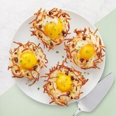 Bake these individual-sized Hash Brown Egg Nests in a cupcake pan. Everyone gets their own to top how they like it.