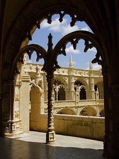 Monastère des Jerónimos - Cloître - The Hiéronymites à Belém - Lisbonne.