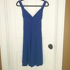 Moda International little Blue dress Moda International blue dress.  Size Medium. 95% polyester, 5% spandex.  No tags were attached.  Purchased from Victoria's Secret online.  Never worn.  Color is royal blue Moda International Dresses