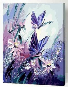 Sale New DIY Acrylic paint by number 16*20 kit Beauty Butterfly