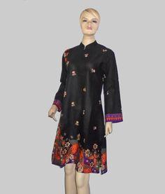 Baju Batik Tunik Hitam [1165] Samping