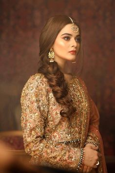 Minaal khan Pakistani Bridal Makeup Hairstyles, Pakistani Makeup, Pakistani Wedding Outfits, Pakistani Couture, Pakistani Wedding Dresses, Indian Dresses, Pakistani Shadi, Shadi Dresses, Bollywood Wedding