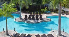 In the Keys, its always perfect weather to be poolside.