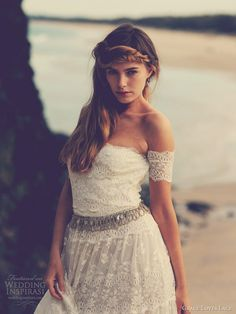 grace loves lace josee wedding dress arm bands