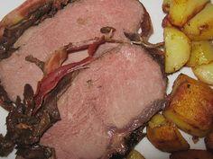 Roastbeef im Steinpilz - Schinken - Mantel mit sardischer Kartoffelpfanne (Rezept mit Bild) | Chefkoch.de