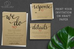 Printable Wedding Invitation Suite Rustic / Save the Date / RSVP/ Thank You/ Details / Custom / Download / Invitation Set / Marilyn Suite by TheHomeGirlsEtsy on Etsy https://www.etsy.com/listing/264529847/printable-wedding-invitation-suite