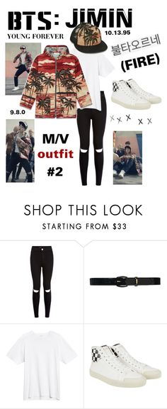 """BTS: JIMIN ""Fire"" M/V Outfit"" by itzbrizo ❤ liked on Polyvore featuring New…"