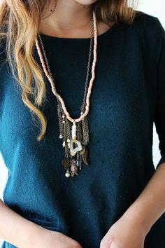 hello hydrangea: Leather Agate Necklace DIY