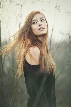 Redheaded girl model beautiful