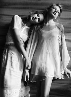 Lisanne de Jong and Meag West by Benny Horne for RUSSH February 2011