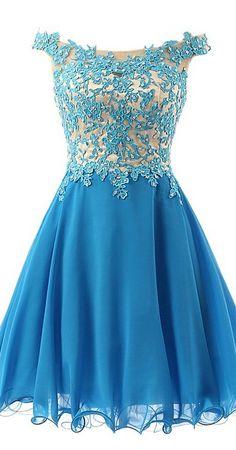 Eveing dresses o-neck Homecoming Dress Appliques PROM DRESS Fuchsia Chiffon SHORT DRESSES MINI PARTY DRESSES
