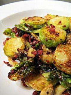 Crispy brussel sprout bake.