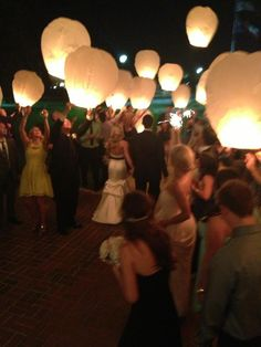 Paper lanterns Wedding exit @Penny - this is what we were talking about today