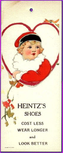 Victorian Bookmarks: Heintz's Shoes
