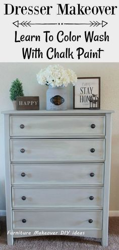 How To Color Wash Effect With Chalk Paint Simply Vintage How To Color Wash Effect With Chalk Paint Simply Vintage Bethany Chandonais bdiddydory Home Repair Dresser Makeover How nbsp hellip furniture diy Farmhouse Style Kitchen, Modern Farmhouse Kitchens, Rustic Farmhouse, Rustic Cottage, Easy Home Decor, Cheap Home Decor, Cheap Furniture, Home Furniture, Furniture Stores