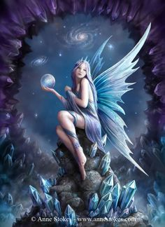 "Elves Faeries Gnomes:  #Faery ~ ""Stargazer,"" by Anne Stokes."