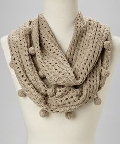 Another great find on #zulily! Oatmeal Knit Infinity Scarf #zulilyfinds