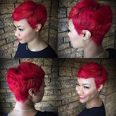 15 Red Passion Ideas Matching Lips Dyed Hair Hair Color