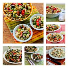 10 Favorite Pasta Salads to Make for Summer Parties!  I think pasta salad can be a bit ho-hum unless you make sure there are some vibrant flavors to balance out the pasta, and I promise you that none of these pasta salads are even a tiny bit boring!  [from KalynsKitchen.com]