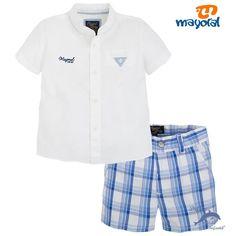 Conjunto bebe MAYORAL camisa y pantalón de cuadros Marcas De Ropa Infantil a1e9d3913d2cd