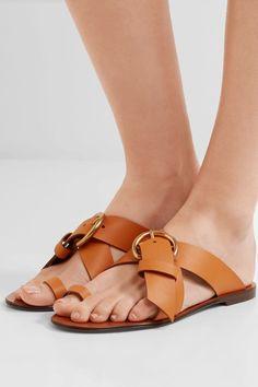 Chloé   Nils textured-leather sandals   NET-A-PORTER.COM