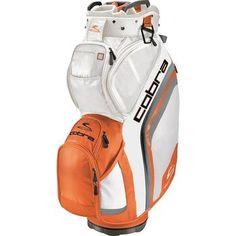 Cobra Golf Bio Cart Bag - White-Vibrant Orange Cobra Golf, Trolley Bags, Rock Bottom, Taylormade, Golf Outfit, Golf Bags, Vibrant, Golf Clothing, Orange