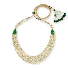 Diamond Necklaces : 3 Layer Line Necklace set | Devam Jewelry