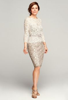 52830a91131 Beige and Cream Lace Mother of the Bride Dress Mother Of The Bride Fashion