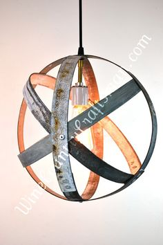 Small Wine Barrel Ring Hanging Lantern by winecountrycraftsman