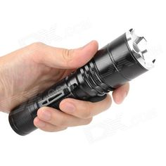 UltraFire Cree XM-L T6 600lm 5-Mode Memory White Zooming Flashlight - Black (1 x 18650 / 3 x AAA) $17.50