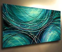 Absolutely LOVE this! Art Abstract Painting Modern Contemporary Decor Michael Lang Certified Original   eBay