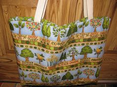 Recycle large tote bag by sewleighmyown, $25.00