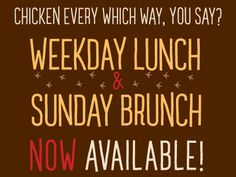 Lunch AND Brunch now available at Pecking Order  4416 n clark  773 907 9900